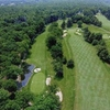 Aerial view of hole #1 at Tradition Golf Club at Oak Lane