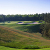 A view of the 14th hole from the Jones course at Pinehills Golf Club