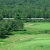 A view from tee #2 at Owl's Nest Golf Club with the Hobo Railroad tourist train in the distance
