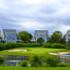 A view of the island green at Bay Pointe Country Club