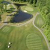 Aerial view of hole #5, #6 and #7 at Par-3 Course from Swansea Country Club