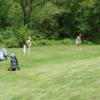 A view of a red tee at Cedar Glen Golf Club