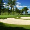 A view of a hole protected by bunkers at Renaissance Golf Club