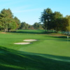 A view of a fairway at Blissful Meadows Golf Club