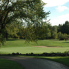 A view of the 9th hole at Blissful Meadows Golf Club