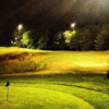An evening view of a tee at Fore Kicks Golf Club