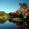 A view over the water of the 10th fairway at Cedar Knob Golf Course