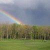 A rainbow view from Fairview Farm Golf Course