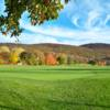 A view of a green at Sleeping Giant Golf Course