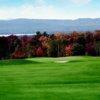 A fall view of a green at Pheasant Ridge Golf Club