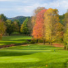 Fall view of a green at Woodstock Country Club