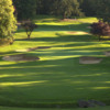 View of a green and bunkers at Portland Golf Course