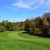 A fall view of a fairway at Rockrimmon Country Club