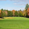A fall view from a fairway at Eastman Golf Links