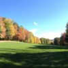 A fall view of a fairway at Proctor-Pittsford Country Club