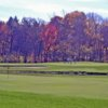 A view from the side of green #8 to the 7th hole at Blue from Stanley Golf Course