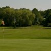 A view of a green at Nahant Golf Club