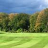 A fall day view of a green at Oak Ridge Golf Club.